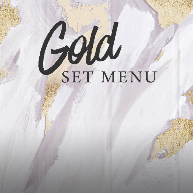Gold set menu at The King's Arms