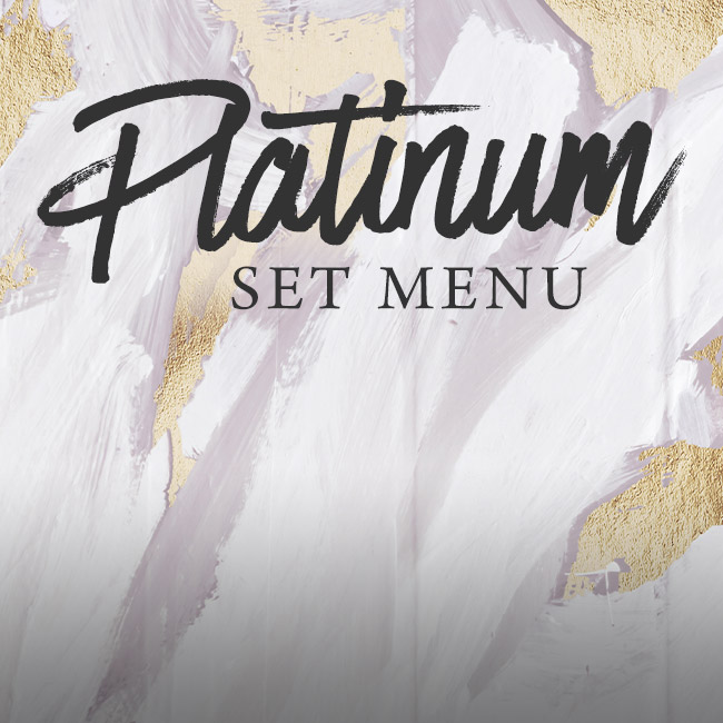 Platinum set menu at The King's Arms