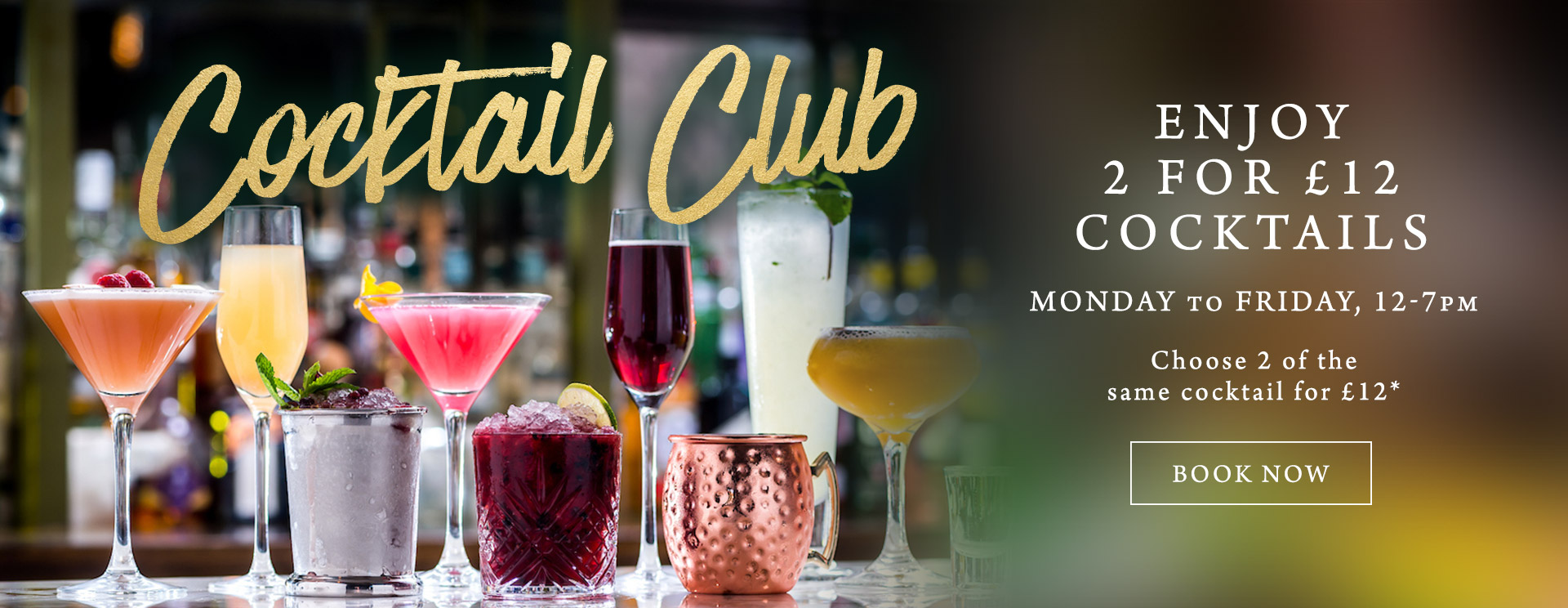 2 for £12 cocktails at The King's Arms